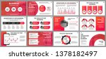 business presentation slides... | Shutterstock .eps vector #1378182497