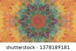 geometric design  mosaic of a... | Shutterstock .eps vector #1378189181