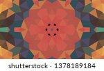 geometric design  mosaic of a... | Shutterstock .eps vector #1378189184