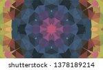 geometric design  mosaic of a... | Shutterstock .eps vector #1378189214