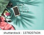 getting ready for summer beach... | Shutterstock . vector #1378207634