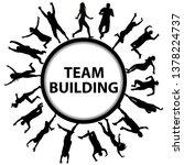 team building concept with men... | Shutterstock . vector #1378224737