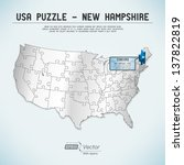 usa map puzzle   one state one... | Shutterstock .eps vector #137822819