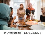 excited asian muslim people... | Shutterstock . vector #1378233377