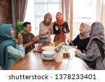 muslim friend and family... | Shutterstock . vector #1378233401