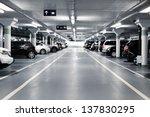 Underground Parking With Cars....