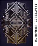 vector luxury antique art deco...   Shutterstock .eps vector #1378319561