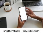 cropped shot top view of...   Shutterstock . vector #1378330034
