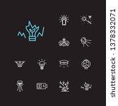 lightning icons set. led bulb...   Shutterstock .eps vector #1378332071