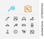 car icons set. van and car... | Shutterstock .eps vector #1378332161