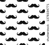 seamless pattern with mustaches ... | Shutterstock .eps vector #1378334771