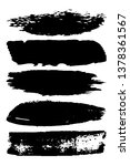 dry brush strokes. black... | Shutterstock .eps vector #1378361567