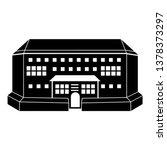 indoor arena front view icon.... | Shutterstock .eps vector #1378373297