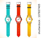 isolated clocks. wrist watch.... | Shutterstock .eps vector #137837405
