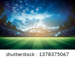 lights at night and stadium 3d... | Shutterstock . vector #1378375067