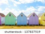 Traditional British Beach Huts...