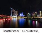 singapore skyline cityscape... | Shutterstock . vector #1378380551