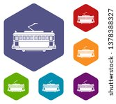 tram icons vector colorful... | Shutterstock .eps vector #1378388327