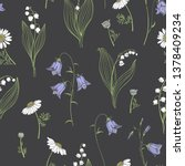 seamless vector pattern with... | Shutterstock .eps vector #1378409234