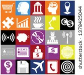 set of 25 business symbols of... | Shutterstock .eps vector #1378425044