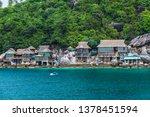 amazed tropical nature scenic... | Shutterstock . vector #1378451594