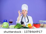 girl adorable chef teach...   Shutterstock . vector #1378464917