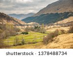 glenfinnan viaduct in scotland.   Shutterstock . vector #1378488734