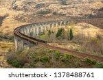glenfinnan viaduct in scotland.   Shutterstock . vector #1378488761