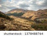 glenfinnan viaduct in scotland.   Shutterstock . vector #1378488764