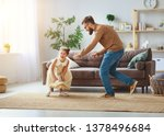 happy father's day  family dad... | Shutterstock . vector #1378496684