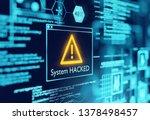 a computer popup box screen...   Shutterstock . vector #1378498457