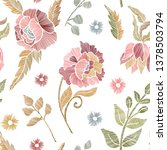 floral seamless background... | Shutterstock .eps vector #1378503794
