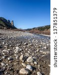 A Nearly Dried Torrent Bed Wit...