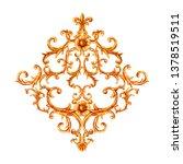 baroque style gold element....   Shutterstock . vector #1378519511
