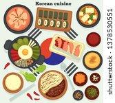 travel to korea korean cuisine... | Shutterstock .eps vector #1378530551