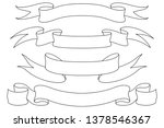 ribbon banners. outline icons.... | Shutterstock . vector #1378546367