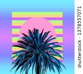 Small photo of Aesthetic art collage. Palm. Beach mood. Zine culture trend