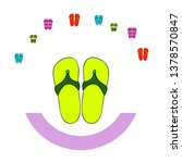 vector set with cute and... | Shutterstock .eps vector #1378570847