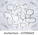 vector hand drawn sketchy... | Shutterstock .eps vector #137858669