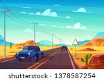 desert landscape with long... | Shutterstock .eps vector #1378587254