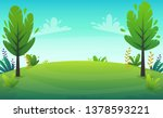 cheerful grass meadow at park... | Shutterstock .eps vector #1378593221
