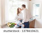 young positive married couple...   Shutterstock . vector #1378610621