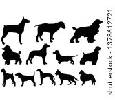 set of dogs black and white... | Shutterstock .eps vector #1378612721
