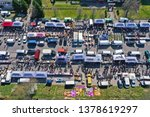 aerial view on flea market with ... | Shutterstock . vector #1378619297