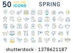 set of vector line icons of... | Shutterstock .eps vector #1378621187