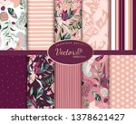 set botanic and abstract... | Shutterstock .eps vector #1378621427