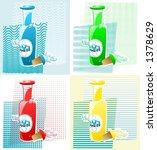 bubble bath bottles on four... | Shutterstock .eps vector #1378629
