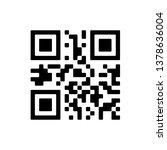 vector qr code sample for... | Shutterstock .eps vector #1378636004