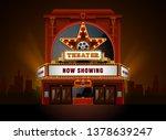 theater cinema building vector...   Shutterstock .eps vector #1378639247