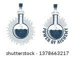 chemistry retro logo. the... | Shutterstock .eps vector #1378663217